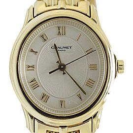 Chaumet 18K Yellow Gold Quartz Timepiece Bracelet Womens Watch
