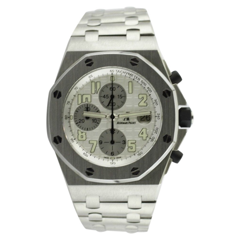 "Image of ""Audemars Piguet Royal Oak Offshore Steel Clad 43mm Bracelet Watch"""
