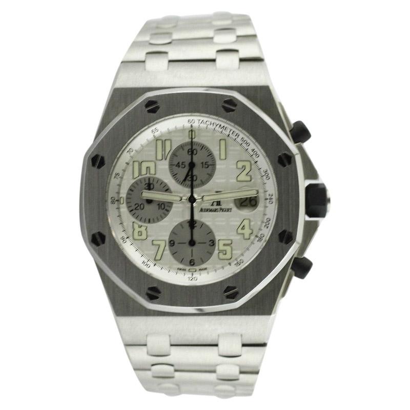 "Image of ""Audemars Piguet Royal Oak Offshore Steel Clad 43mm Bracelet Watch"""