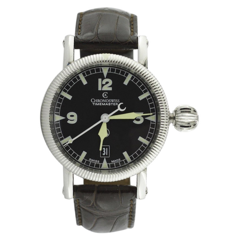 "Image of ""Chronoswiss Time Master Ch2833 Stainless Steel Black Dial Automatic"""