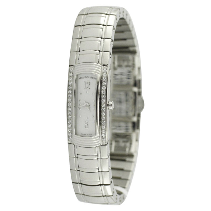 "Image of ""Mauboussin R68601 Stainless Steel wDiamond Quartz 13.5mm Unisex Watch"""
