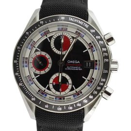 Omega Speedmaster Chronograph 3210.52.00 Complete Black and Red Watch