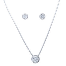 Van Cleef & Arpels WG and Diamond Necklace and Earrings Set