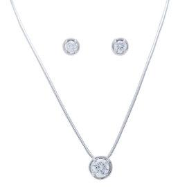 Van Cleef & Arpels WG and Diamond Necklace and Earrings Set
