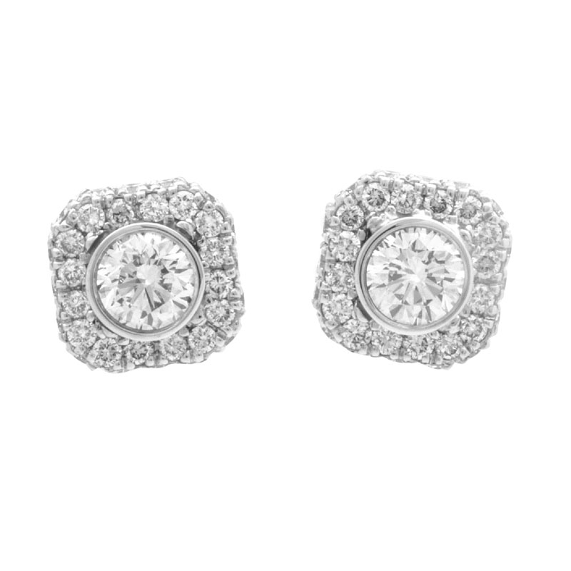 "Image of ""Gregg Ruth 18K White Gold Diamond Earrings"""