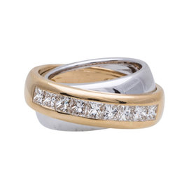 Cartier 18K Yellow & White Gold Diamond Ring