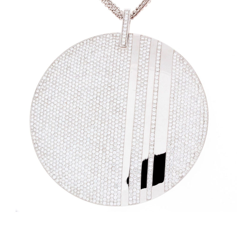 "Image of ""Messika 18K White Gold Diamond Pendant Necklace"""