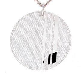 Messika 18K White Gold Diamond Pendant Necklace