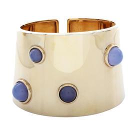 Fred 18K Yellow Gold & Chalcedony Cuff Bracelet