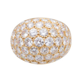 Van Cleef & Arpels 18K Yellow Gold and Diamond Ring