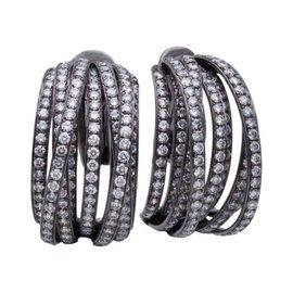 DeGrisogono 18K White Gold & Diamond Earrings