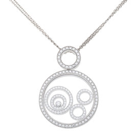 Chopard 18K White Gold Diamond Happy Spirit Pendant