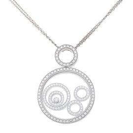 Chopard 18K White Gold Diamond Happy Spirit Pendant