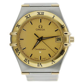 Omega Two Tone Yellow Gold Constellation Quartz Watch