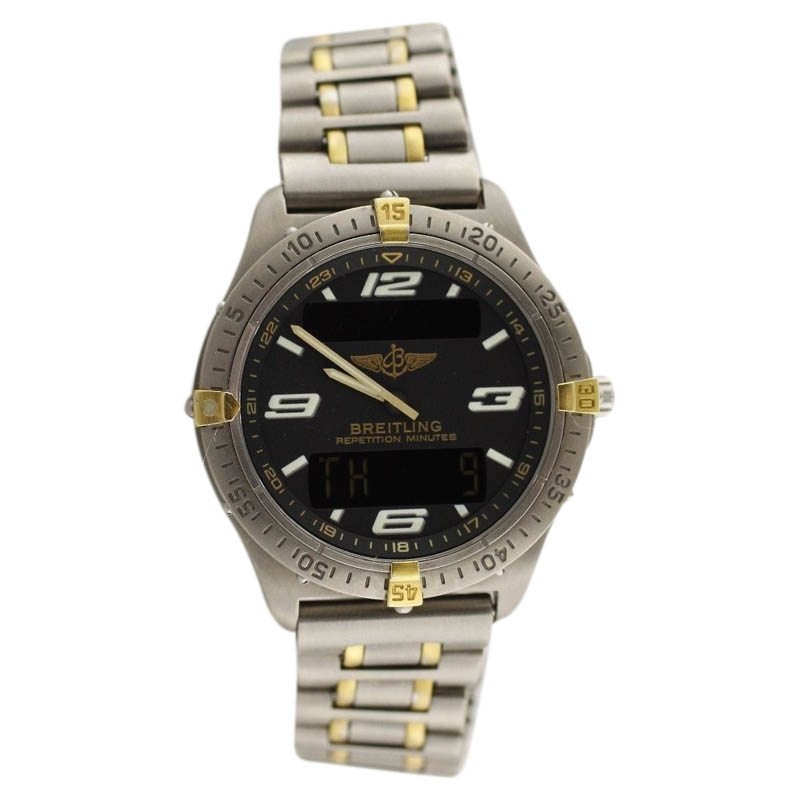 "Image of ""Breitling Professional Aerospace F65062 Two Tone Yellow Gold &"""