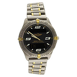 Breitling Professional Aerospace F65062 Two Tone Yellow Gold & Titanium Watch