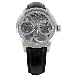 Maurice Lacroix Masterpiece Skeleton ML-MP7128 Black Leather 45mm Mens Watch