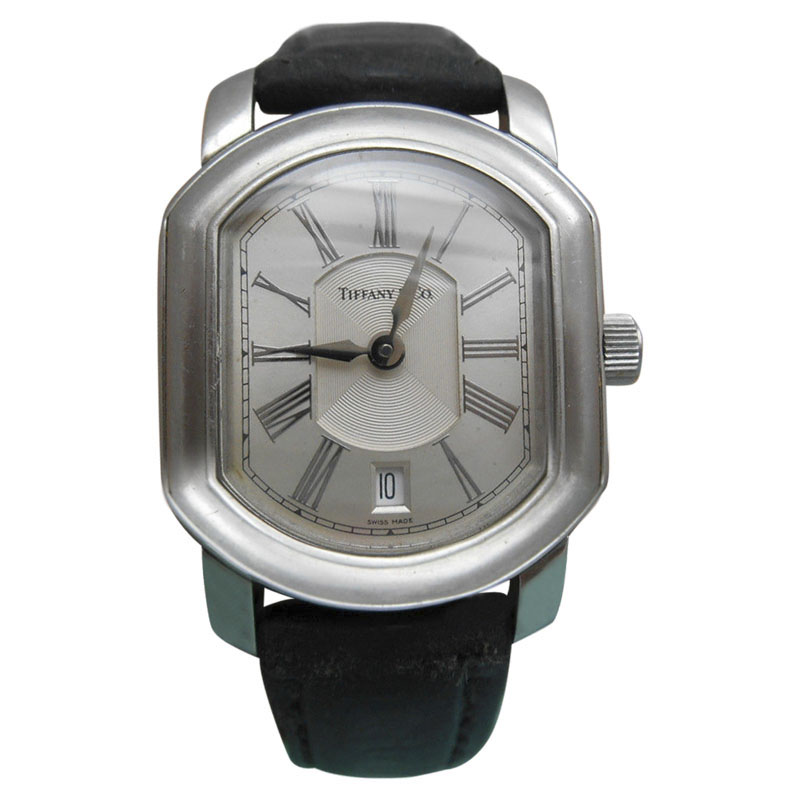 """Image of """"Tiffany & Co. Mark Coupe Date Guilloche Dial Stainless Steel Resonator"""""""