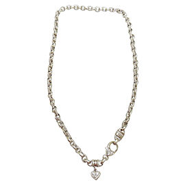 Judith Ripka 18K White Gold Diamond Heart Couture Pendant Necklace