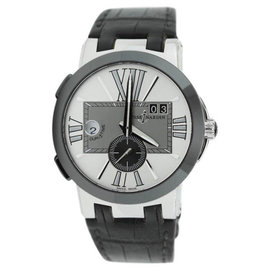 Ulysse Nardin Executive Dual Time 243-00 Silver Dial Mens Watch