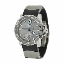 Ulysse Nardin Marine Diver 263-33 Rhodium Dial Rubber Titanium Strap Watch