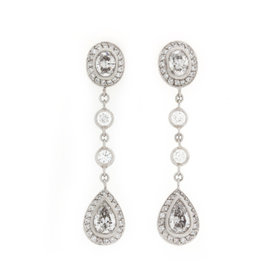 Michael Beaudry Platinum and Diamond Earrings