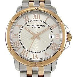 Raymond Weil Tango 5591-SB5-00658 Stainless Steel & Rose Gold Quartz 39mm Mens Watch