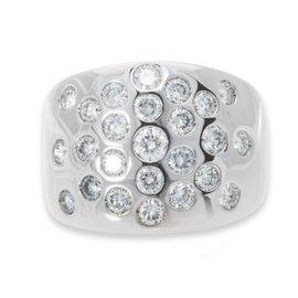 Hermes 18K White Gold Diamond Ring