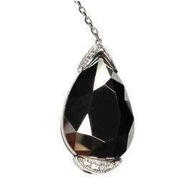Chopard White Gold Golden Diamonds Diamond & Chrome Stone Pendant