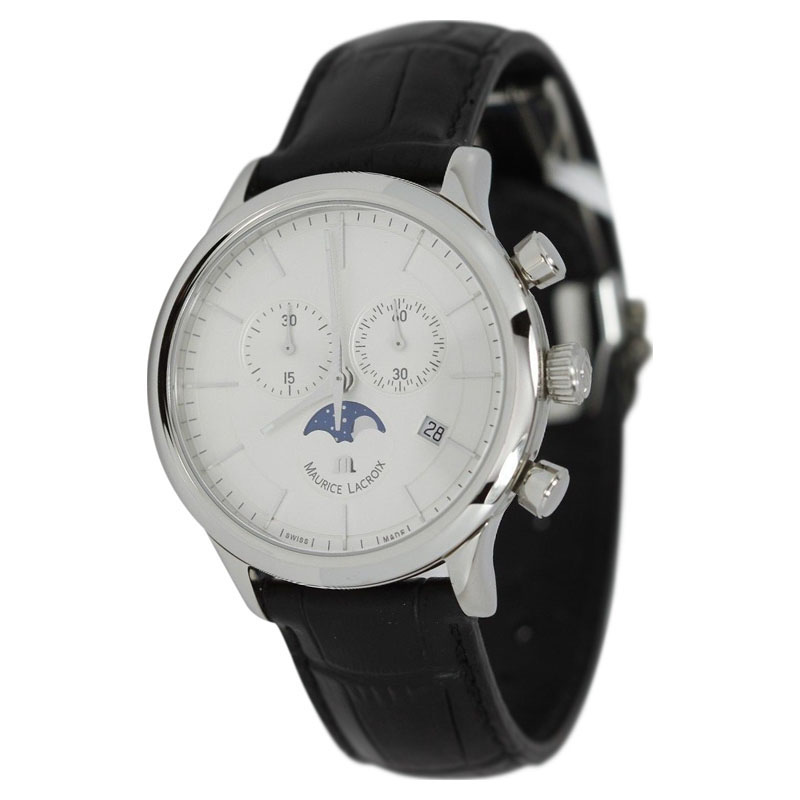 "Image of ""Maurice Lacroix Classique Moonphase Lc1148 Stainless Steel Quartz"""