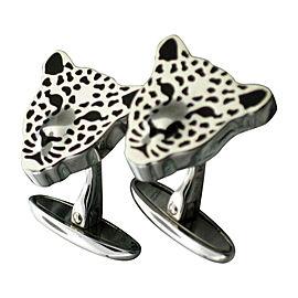 Carrera y Carrera White Gold Leopard Cufflinks