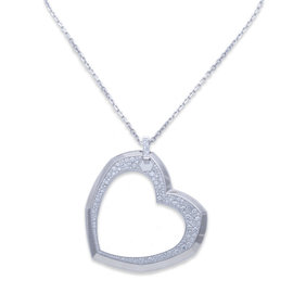 Audemars Piguet 18K White Gold Diamond Heart Pendant