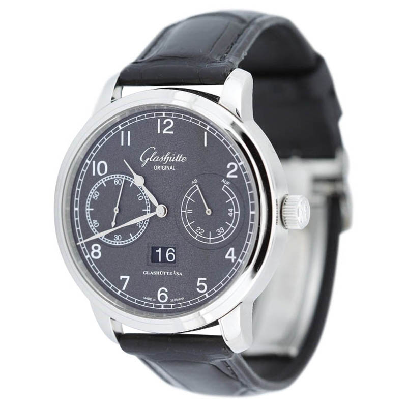 "Image of ""Glashutte Original Observer W10014020204 Stainless Black Watch"""