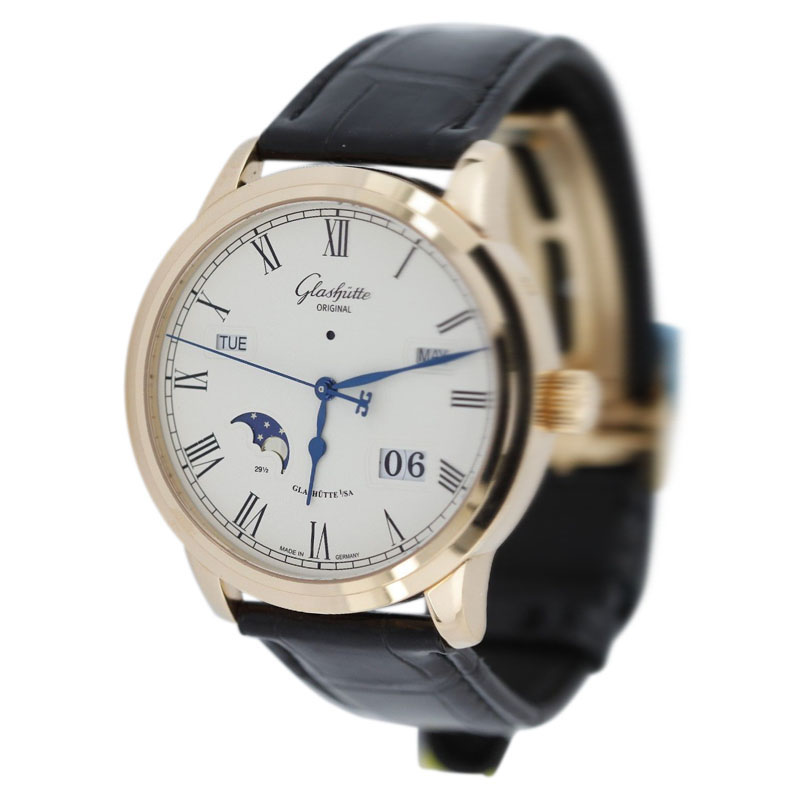 "Image of ""Glashutte Original Senator W10002220505 18K Rose Gold & Leather 40mm"""