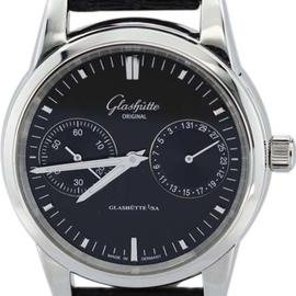 Glashutte Original W13958010204 Senator Hand Date Black 38mm Watch