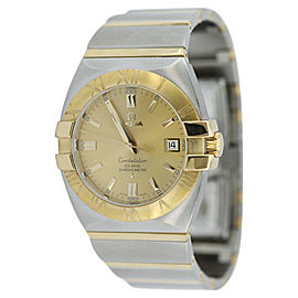 Omega Constellatioin 123.20.38.21.02 Two Tone Gold Double Eagle Co-Axial Mens Watch