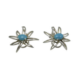 Tiffany & Co. .925 Sterling Silver Turquoise Fireworks Earrings