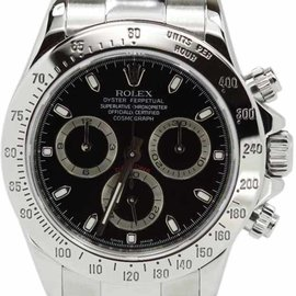 Rolex Daytona 116520 Stainless Steel Black Dial Watch