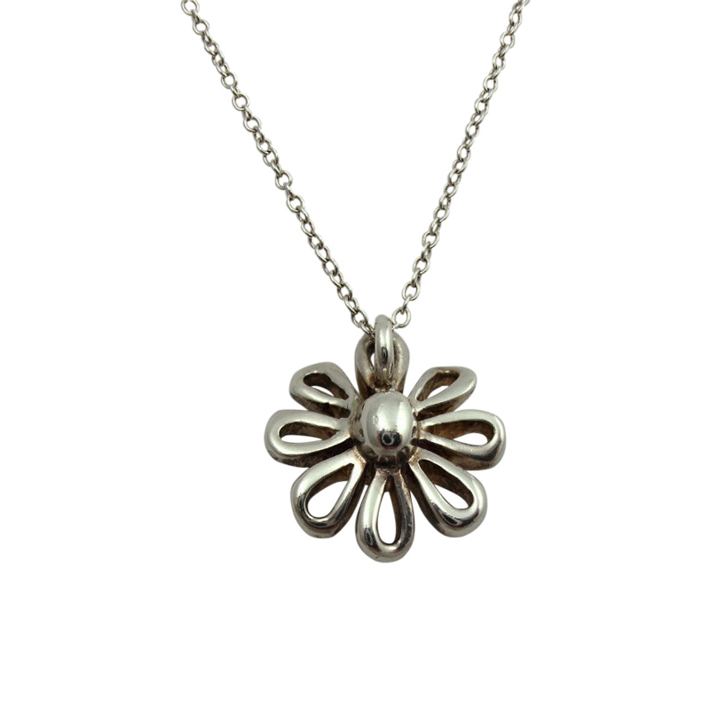 "Image of ""Tiffany & Co. Sterling Silver & Chai Jolie Daisy Flower Necklace"""