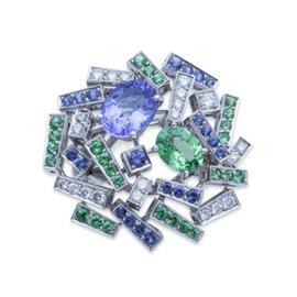 Chaumet 18K White Gold Diamond Le Grand Frisson Ring