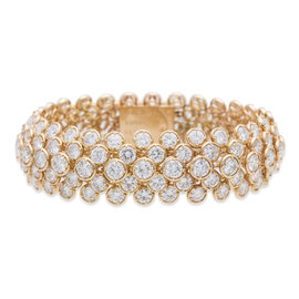 Van Cleef and Arpels 18K Yellow Gold 40.ct Diamond Bracelet