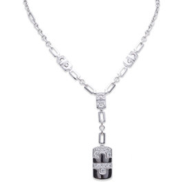 Bvlgari 18K White Gold Parentesi Diamond Necklace