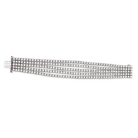18K White Gold & 35.36ct Diamond Tennis Bracelet