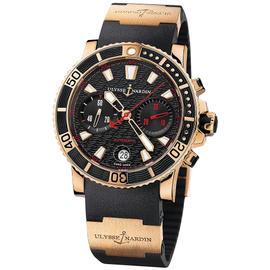 Ulysse Nardin Marine Diver 8006-102-3A/926 Chronograph 18K Rose Gold Watch