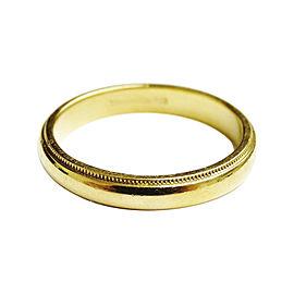 Tiffany & Co. 18K Yellow Gold Milgrain Wedding Band Ring Size 10.25