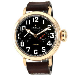 Zenith Pilot Montre d'Aeronef 18K Rose Gold 57.5mm Watch