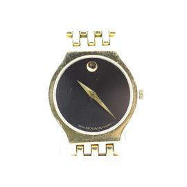 Movado Gold Plated Stainless Steel Quartz Watch