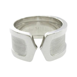Cartier 18K White Gold C2 Large Ring Size 5.75