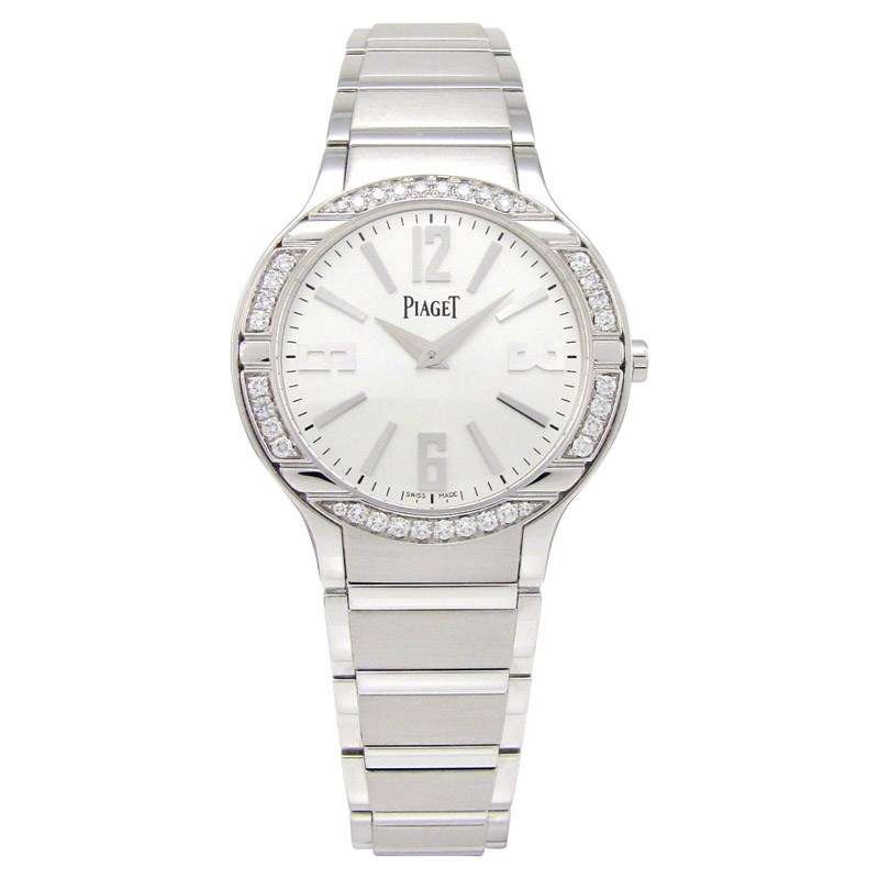 "Image of ""Piaget Polo G0A36231 18K White Gold Diamond Bezel 32mm Watch"""