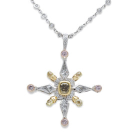 Michael Beaudry Platinum & 18K Rose Gold 4.75ct Diamond Pendant